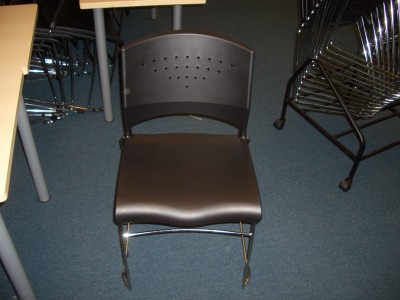 Allsteel Stack Chair - (Black)
