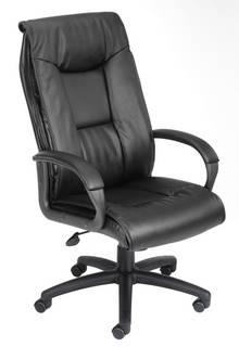 Black Executive Leather Plus Chair