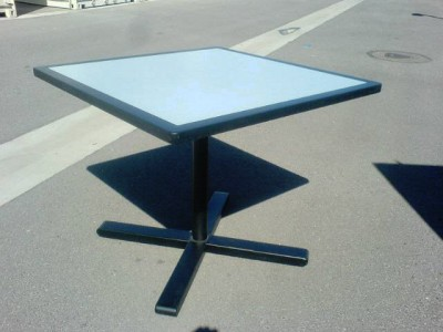 Break Tables - (Black Edging w Blue Matrix)