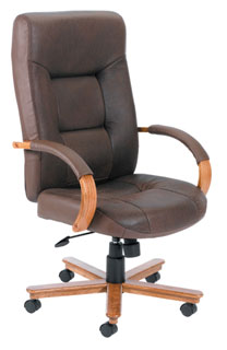 Brown Bomber Leather Executive Chair