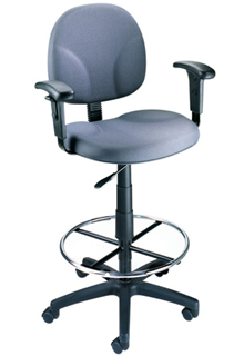 Contoured Back And Pneumatic Seat Adjustable Arm - Blue