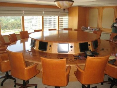 Custom made MGM Studio Conference Table video conference able Home