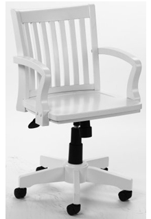 Hardwood Executive Chair - White