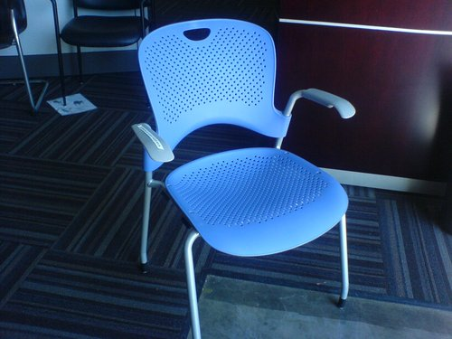 Herman Miller 'Caper' Break Chairs (Blue)