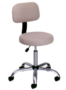 High Back Medical Stool Chair Durable Beige