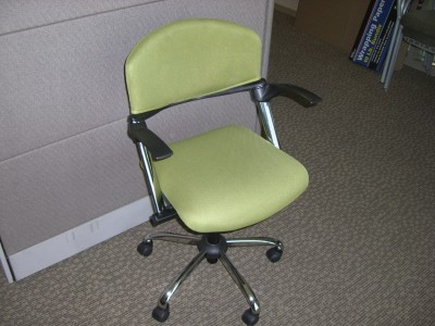 Import Task Chair Chrome Base - (Apple Green)