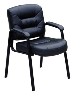 Italian Full-Grain Leather Guest Chair
