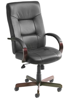 Italian Leather Executive Seating Knee-Tilt Mechanism