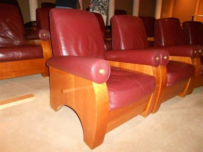 Leather arm Macini Private Screening Room Chairs