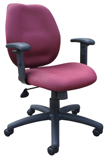Mid-Back Task Chair With Arm - Burgundy