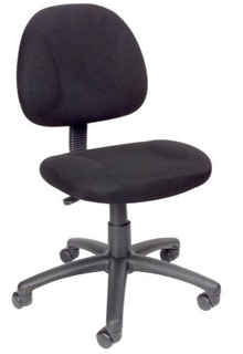 Thick Padded Seat And Back Task Chair - Black